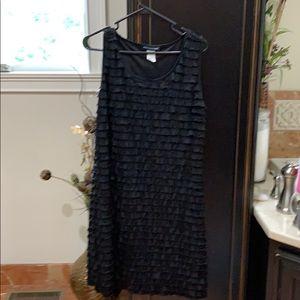 Layered cocktail dress black size medium